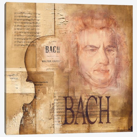 A Tribute To Bach Canvas Print #OUD1} by Marie-Louise Oudkerk Canvas Artwork