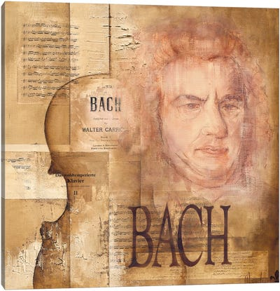 A Tribute To Bach Canvas Art Print