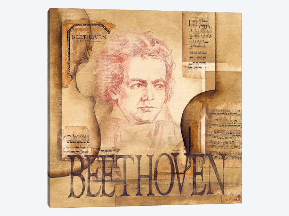 A Tribute To Beethoven by Marie-Louise Oudkerk 1-piece Canvas Print
