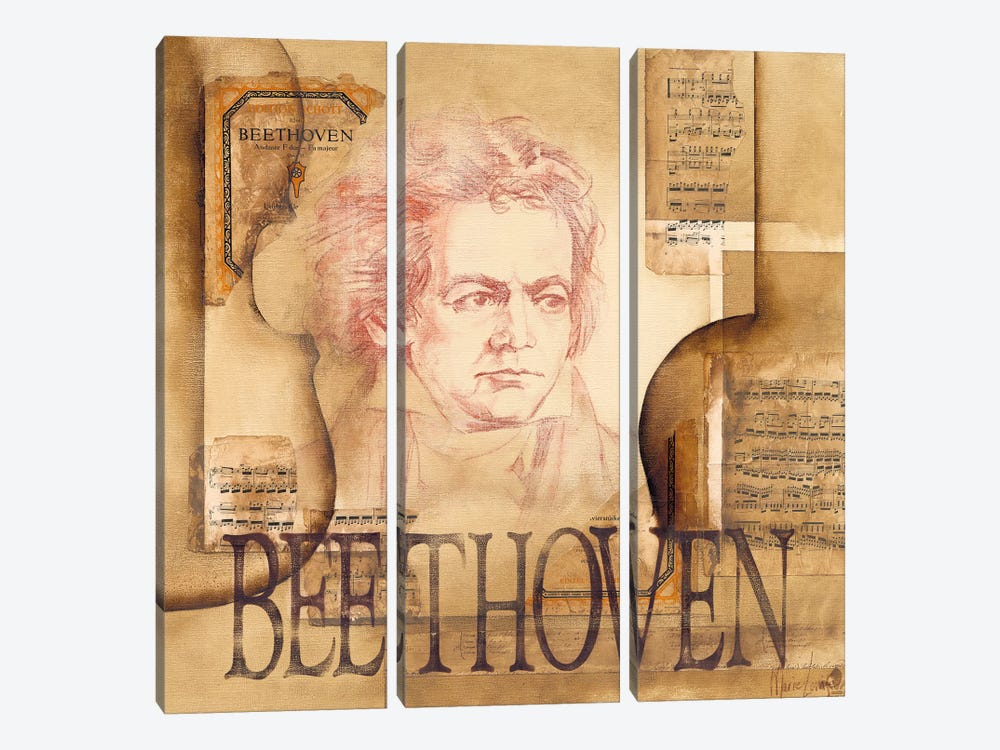 A Tribute To Beethoven by Marie-Louise Oudkerk 3-piece Art Print