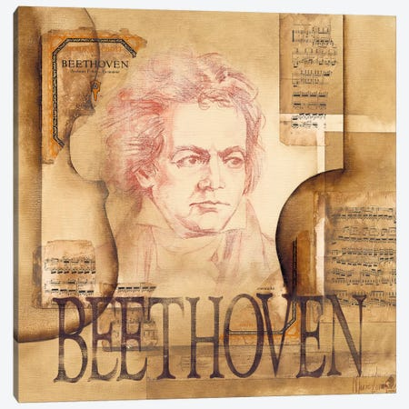A Tribute To Beethoven Canvas Print #OUD2} by Marie-Louise Oudkerk Canvas Artwork