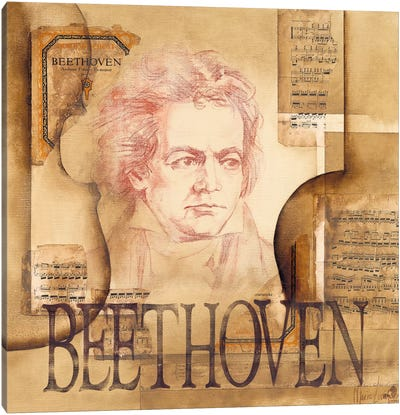 A Tribute To Beethoven Canvas Art Print