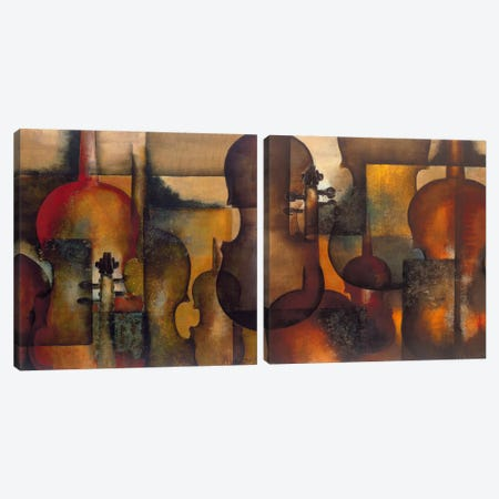 Ode To Music Diptych Canvas Print Set #OUD2HSET001} by Marie-Louise Oudkerk Art Print