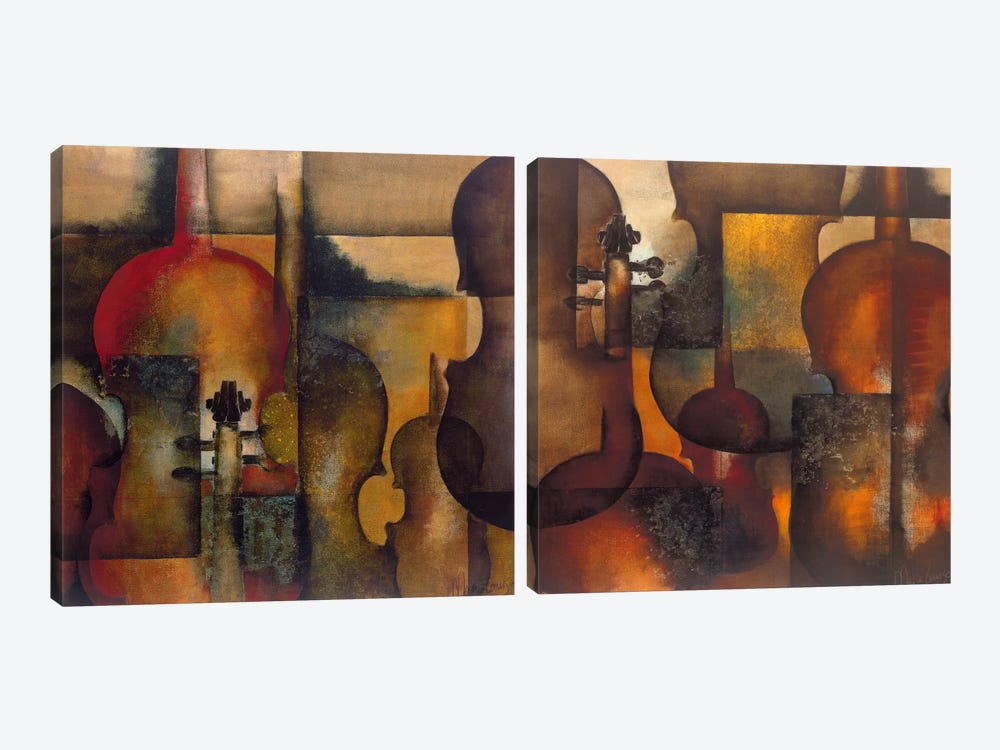 Ode To Music Diptych by Marie-Louise Oudkerk 2-piece Canvas Art