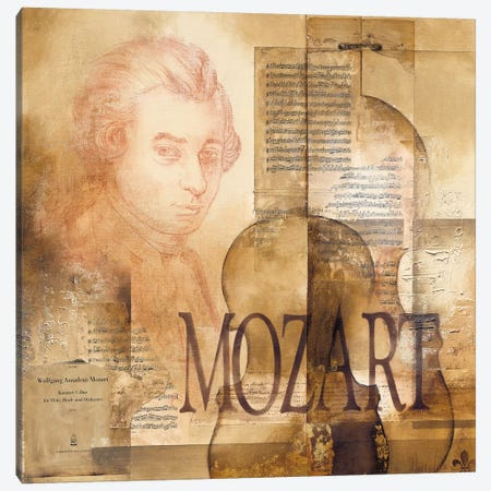 A Tribute To Mozart Canvas Print #OUD3} by Marie-Louise Oudkerk Canvas Wall Art