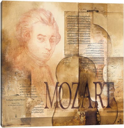A Tribute To Mozart Canvas Art Print