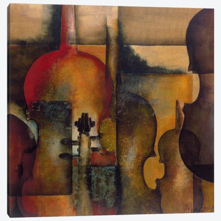 Ode To Music I Canvas Print #OUD5} by Marie-Louise Oudkerk Art Print