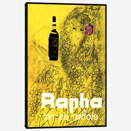 Rapha on en Raffole Canvas Print #OUP1} by Charles Loupot Canvas Art Print