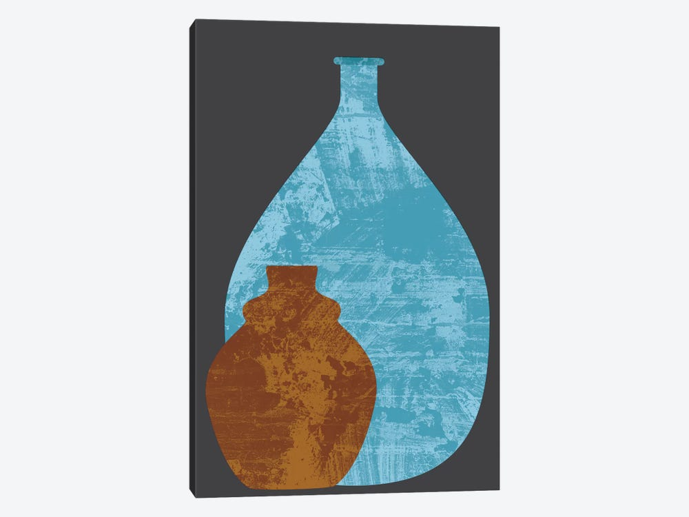 Vases by Flatowl 1-piece Canvas Wall Art