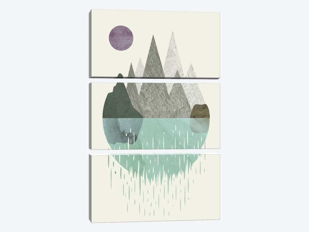 Waterfall by Flatowl 3-piece Canvas Wall Art