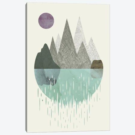 Waterfall Canvas Print #OWL105} by Flatowl Canvas Art