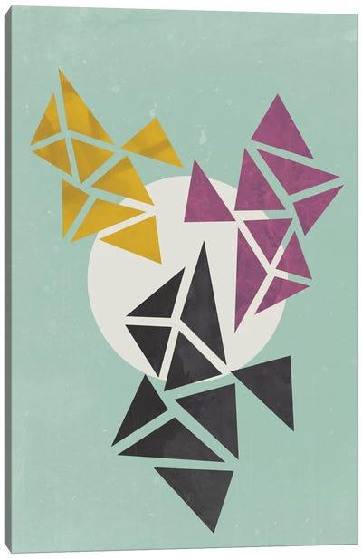 White Circle Canvas Print #OWL106