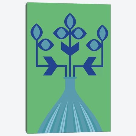 Blue Flower Canvas Print #OWL110} by Flatowl Canvas Art