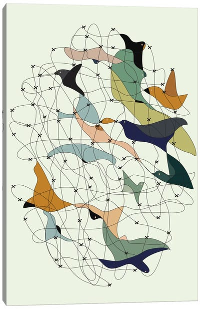 Chained Birds Canvas Art Print