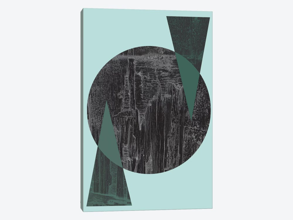 Black Circle by Flatowl 1-piece Canvas Artwork