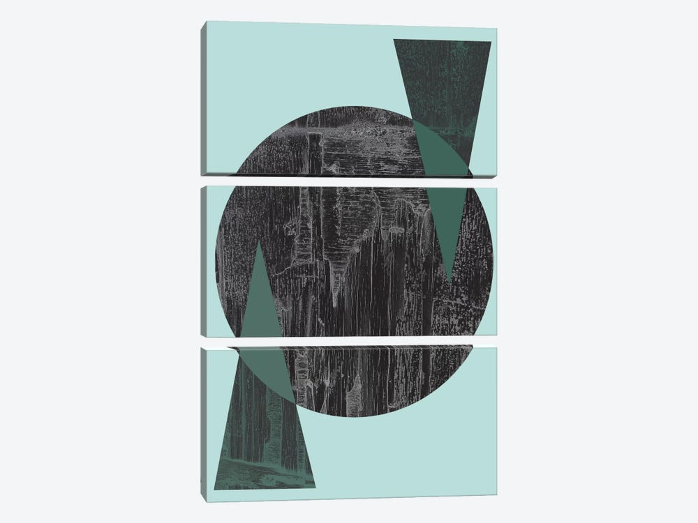 Black Circle by Flatowl 3-piece Canvas Artwork