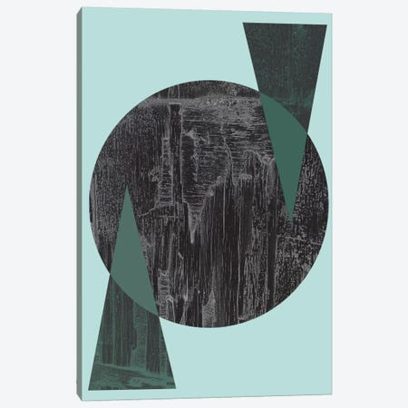 Black Circle Canvas Print #OWL11} by Flatowl Canvas Art Print
