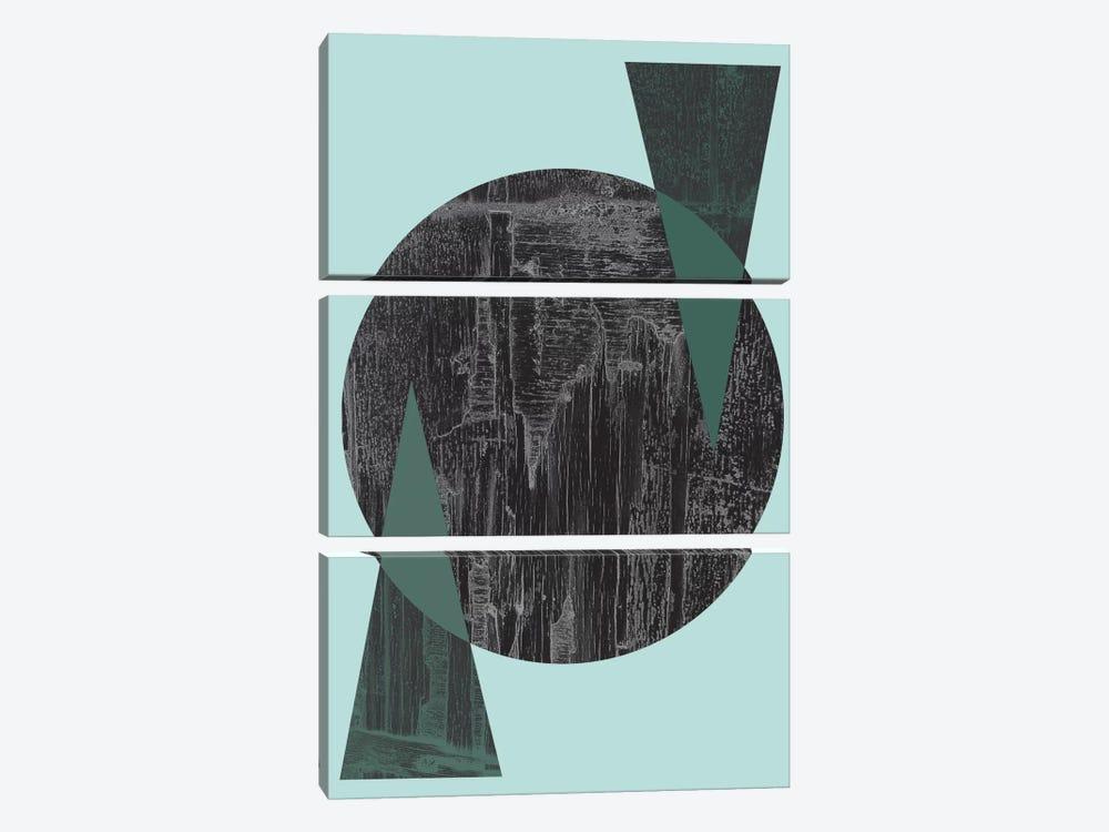 Black Circle by Flatowl 3-piece Canvas Artwork