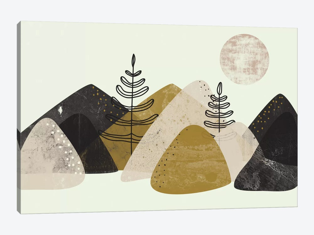 Mountains by Flatowl 1-piece Art Print