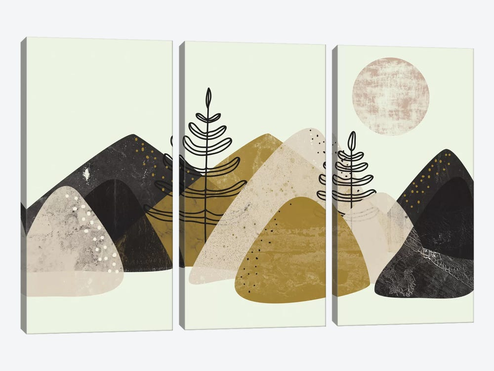 Mountains by Flatowl 3-piece Canvas Print