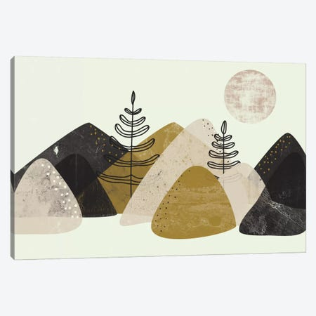 Mountains 3-Piece Canvas #OWL122} by Flatowl Canvas Print