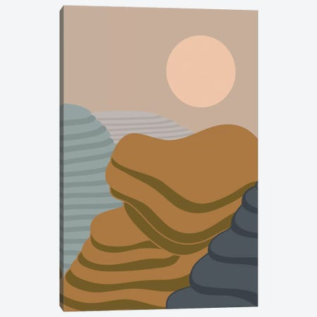 Terraced Fields Canvas Print #OWL127} by Flatowl Canvas Artwork