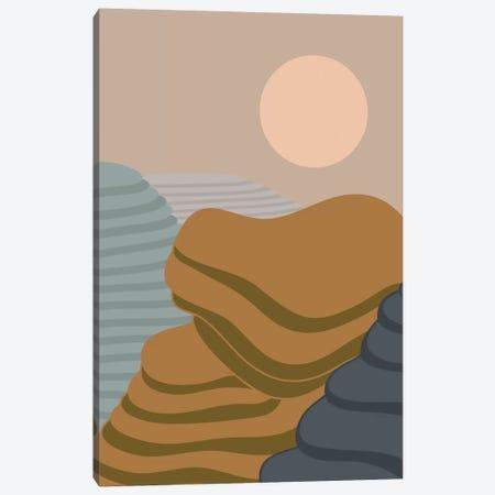 Terraced Fields Canvas Print #OWL127} by Flatowl Canvas Artwork