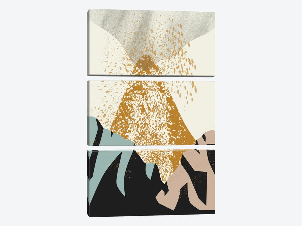Volcano by Flatowl 3-piece Canvas Print