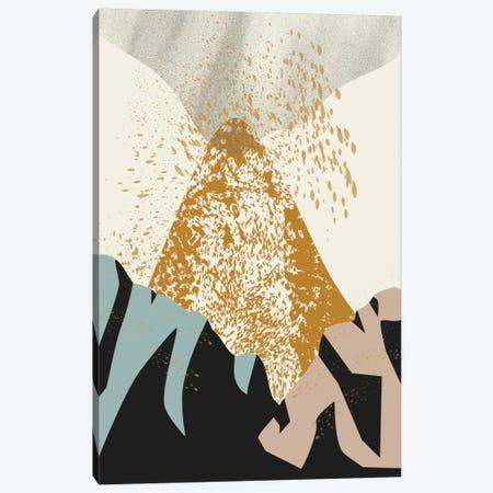 Volcano Canvas Print #OWL128} by Flatowl Art Print