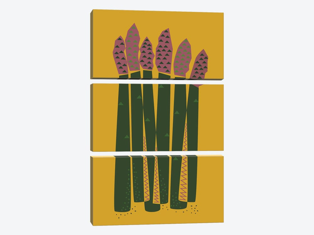 Asparagus by Flatowl 3-piece Canvas Artwork