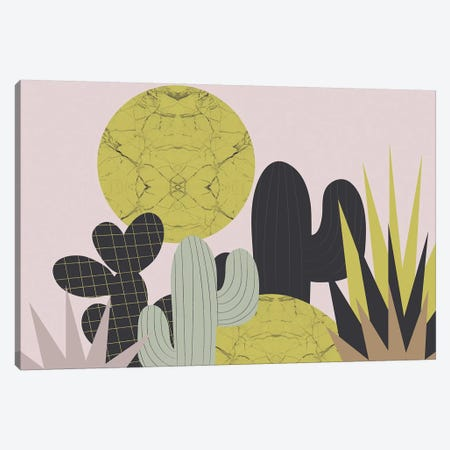 Cacti Canvas Print #OWL131} by Flatowl Canvas Artwork