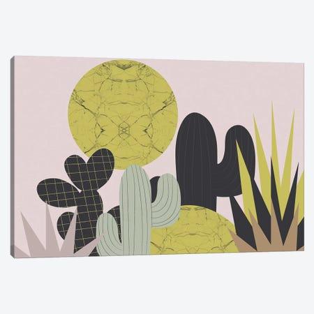 Cacti Canvas Print #OWL131} by Flatowl Canvas Artwork