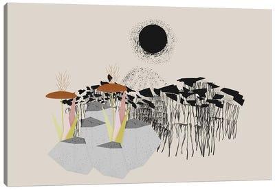Drippy Landscape Canvas Art Print