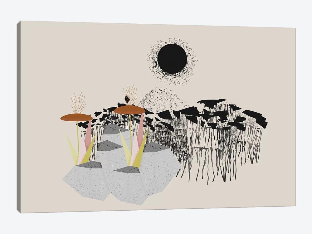 Drippy Landscape by Flatowl 1-piece Canvas Print