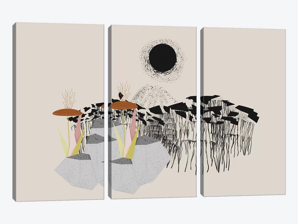 Drippy Landscape by Flatowl 3-piece Canvas Print