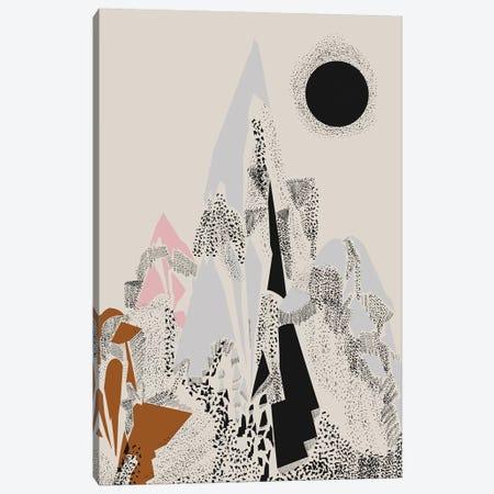 Dusty Mountain Canvas Print #OWL134} by Flatowl Canvas Print