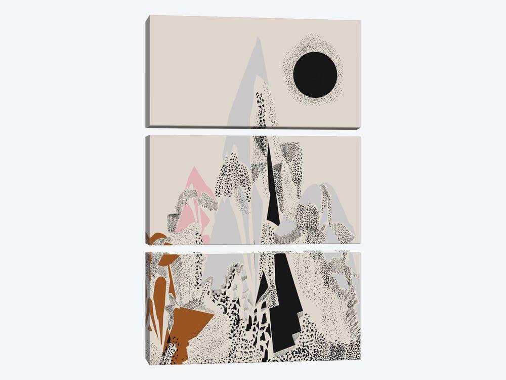 Dusty Mountain by Flatowl 3-piece Canvas Wall Art