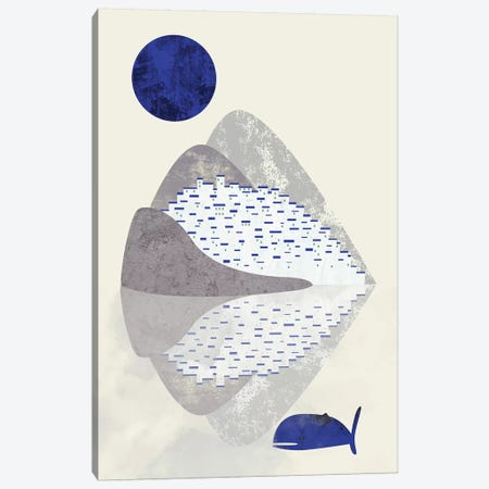 Houses On The Coast Canvas Print #OWL135} by Flatowl Art Print