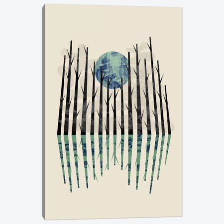Little Black Forest Canvas Print #OWL136} by Flatowl Canvas Art Print