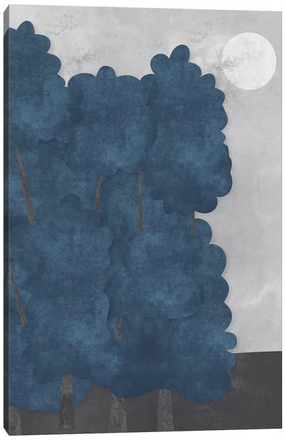 Blue Trees Canvas Art Print