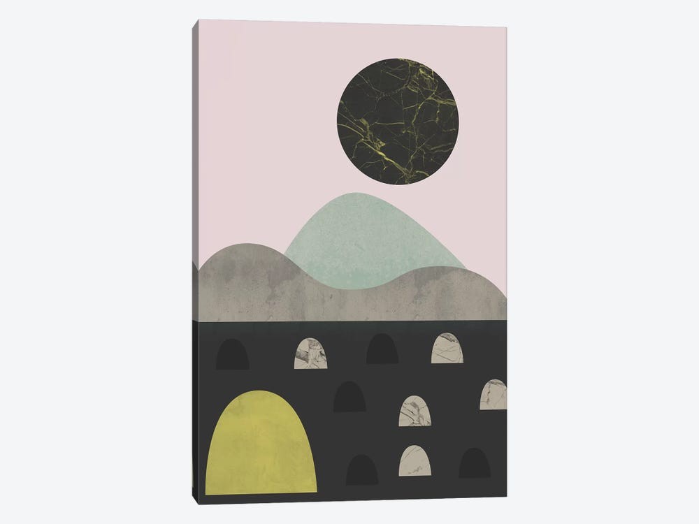 Stones And Moon by Flatowl 1-piece Art Print