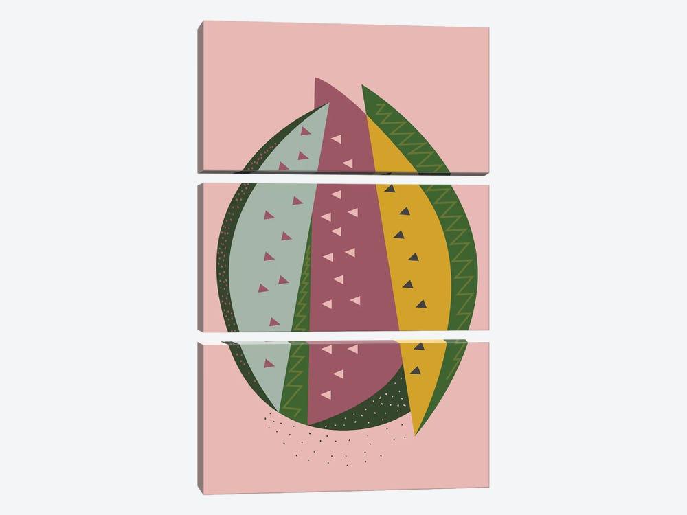 Watermelon by Flatowl 3-piece Canvas Art
