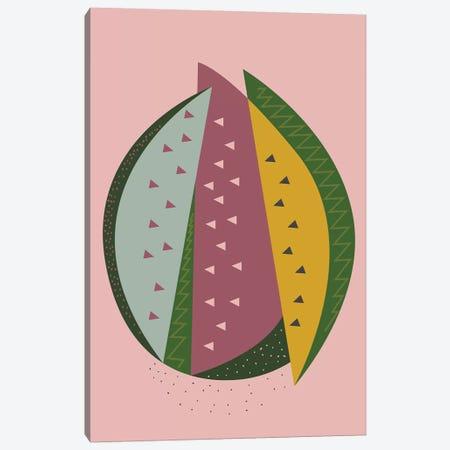 Watermelon Canvas Print #OWL145} by Flatowl Canvas Artwork