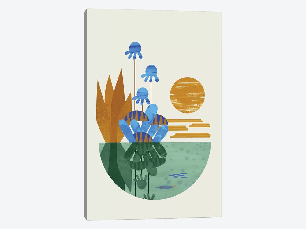 Oasis by Flatowl 1-piece Canvas Art