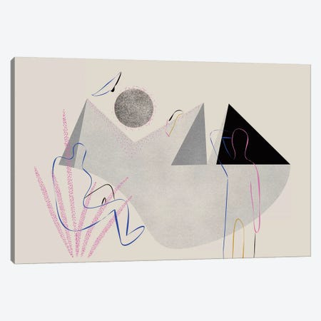 Scrutiny Of Horizon Canvas Print #OWL151} by Flatowl Canvas Wall Art