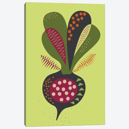 Beetroot Canvas Print #OWL159} by Flatowl Canvas Art