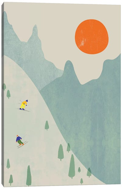 Ski Set Ii Canvas Art Print