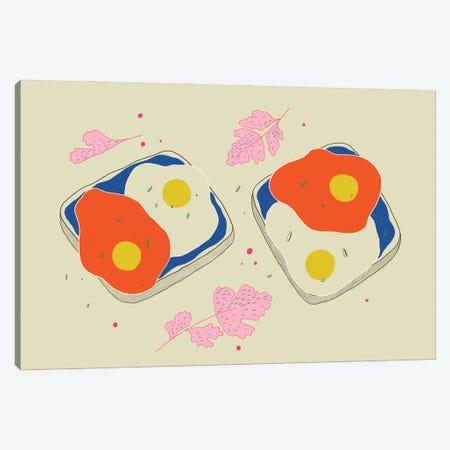Avocado On Toast Canvas Print #OWL171} by Flatowl Canvas Artwork