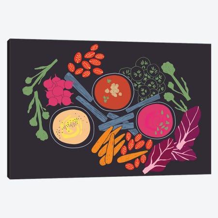 Hummus Platter Canvas Print #OWL172} by Flatowl Canvas Art