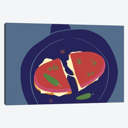 Grilled Cheese Canvas Print #OWL173} by Flatowl Canvas Wall Art